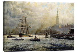 Lienzo  The Port of Hamburg, 1893 - Georg Schmitz