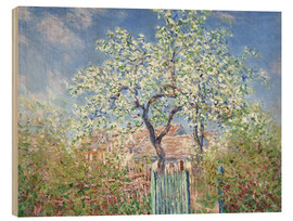 Madera  The gates in Vetheuil - Claude Monet