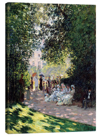 Lienzo  In the Park Monceau - Claude Monet