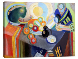 Lienzo  Portuguese Woman pouring something - Robert Delaunay