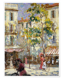 Póster  Street scene in Paris - Joseph Alfred Terry
