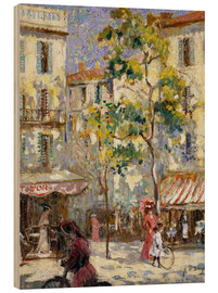 Madera  Street scene in Paris - Joseph Alfred Terry