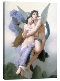 Lienzo  Abduction of Psyche - William Adolphe Bouguereau