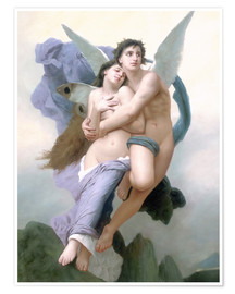 Póster  El secuestro de Psique - William Adolphe Bouguereau