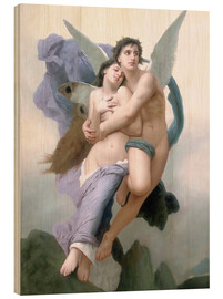 Cuadro de madera  Abduction of Psyche - William Adolphe Bouguereau