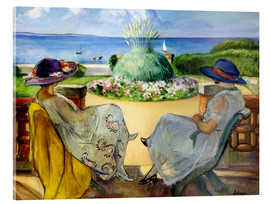 Metacrilato  Two women on a terrace by the sea - Henri Lebasque