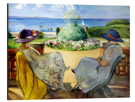 Aluminio-Dibond  Two women on a terrace by the sea - Henri Lebasque
