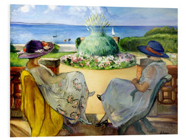 Forex  Two women on a terrace by the sea - Henri Lebasque