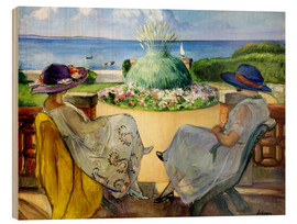 Madera  Two women on a terrace by the sea - Henri Lebasque