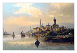 Póster  Purchase ships on the Bosporus - Karl Kaufmann