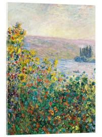 Cuadro de metacrilato  Flower Beds at Vetheuil - Claude Monet