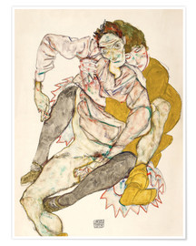 Póster Seated Couple (Egon Schiele and Edith)