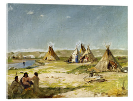 Cuadro de metacrilato  Camp of the Indians in Wyoming - Frank Buchser