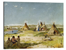 Cuadro de aluminio  Camp of the Indians in Wyoming - Frank Buchser