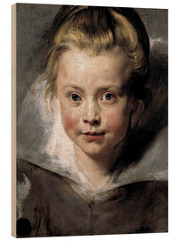 Cuadro de madera  Head of a child (Clara-Serena Rubens) - Peter Paul Rubens