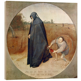 Cuadro de madera  The Misanthrope (The perfidy of the world) - Pieter Brueghel d.Ä.