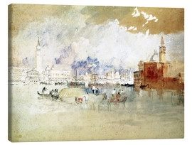 Lienzo  Venice, seen from the lagoon - Joseph Mallord William Turner