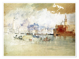 Póster  Venice, seen from the lagoon - Joseph Mallord William Turner