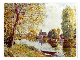 Póster  Spring in Moret-sur-Loing - Alfred Sisley