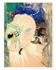 Póster  The wheel - Henri de Toulouse-Lautrec