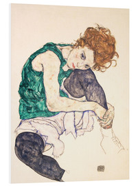 Forex  Seated Woman with Bent Knee - Egon Schiele