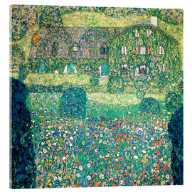 Cuadro de metacrilato  Country house on Attersee lake - Gustav Klimt