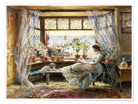 Póster  Reading at the window - Charles James Lewis