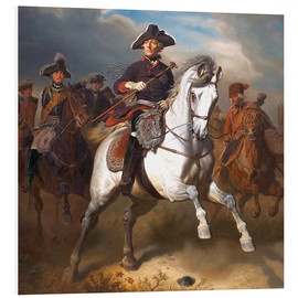Cuadro de PVC  Frederick the Great on horseback - Wilhelm Camphausen
