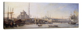 Lienzo  The Golden Horn, Suleymaniye Mosque and Fatih Mosque - Antoine Léon Morel-Fatio