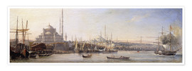 Póster  The Golden Horn, Suleymaniye Mosque and Fatih Mosque - Antoine Léon Morel-Fatio