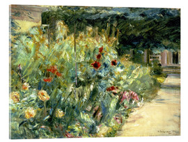 Cuadro de metacrilato  Flower Garden in Giverny at the Wannsee - Max Liebermann