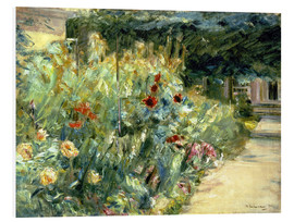 Cuadro de PVC  Flower Garden in Giverny at the Wannsee - Max Liebermann