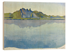 Cuadro de madera  Lake Thun with Stockhorn chain - Ferdinand Hodler