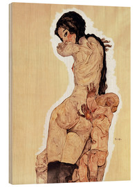 Cuadro de madera  Mother and Child - Egon Schiele