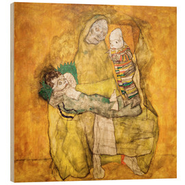 Cuadro de madera  Mother with two children - Egon Schiele