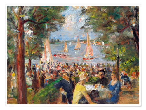 Póster Beer garden on the Havel river