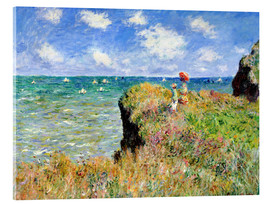 Metacrilato  Clifftop Walk at Pourville - Claude Monet