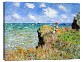 Lienzo  Clifftop Walk at Pourville - Claude Monet