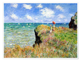 Póster  Clifftop Walk at Pourville - Claude Monet