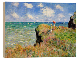 Madera  Clifftop Walk at Pourville - Claude Monet