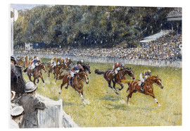 Cuadro de PVC  Horse Racing at Goodwood 1929 - Gilbert Holiday