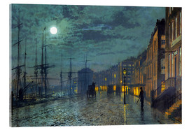 Cuadro de metacrilato  Docks at moonlight - John Atkinson Grimshaw