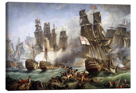 Lienzo  La batalla de Trafalgar - William Clarkson Stanfield