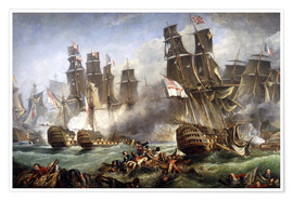 Póster  La batalla de Trafalgar - William Clarkson Stanfield