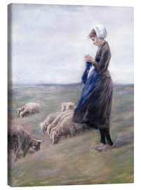 Lienzo  Shepherdess - Max Liebermann