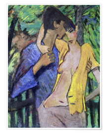 Póster  Loving couple. 1919 - Otto Mueller