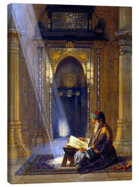 Lienzo  In the Mosque - Carl Friedrich Heinrich Werner