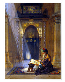 Póster  In the Mosque - Carl Friedrich Heinrich Werner