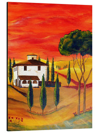 Cuadro de aluminio  Warmth of Tuscany - Christine Huwer