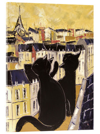 Cuadro de metacrilato  Cats on the rooftops of Paris - JIEL
